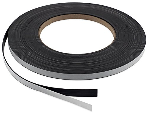Master Magnetics PSM4-060-.25X100A-AMPBX High Energy Flexible Magnet Strip with Adhesive Back, 1/16' Thick, 1/4' Wide, 100' (1 Roll)