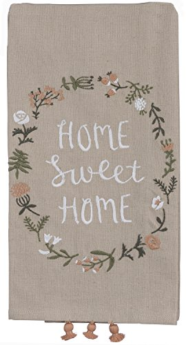 - Primitives by Kathy Home Sweet Home Kitchen Towel - Embroidered Flower Wreath - 20