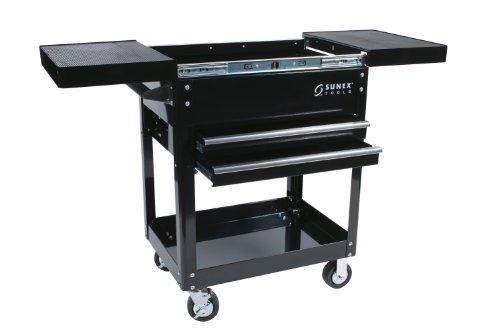 Sunex 8035 Compact Slide Top Utility Cart- Black