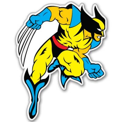 X men xmen wolverine vynil car sticker 4