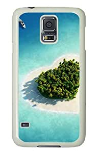 Samsung Galaxy S5 Case and Cover - Heart Shaped Herzen Island Maldives PC Hard Case Cover for Samsung Galaxy S5 White