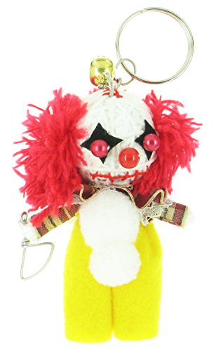 Cute Voodoo Doll Costumes (Yellow Pennywise Clown Voodoo String Doll Keyring Keychain)