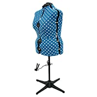 Sewing-Online Adjustable Dressmakers Dummy UK 20-22 Duck Egg Blue Polka Dot | Adjustoform