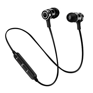 BLUEHUAF Auriculares Bluetooth Sports Wireless Running Doble Ear Metal Tapones para los Oídos Magnético Mini Universal