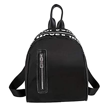 Black SicongHT Small Daypack Fashion Versatile Nylon Backpack for Women Girls Purse