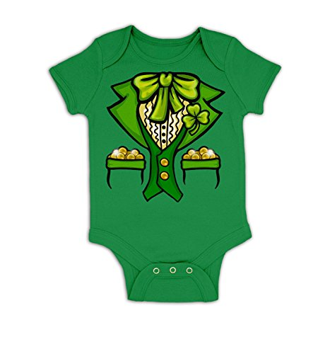 Toddler Costumes Ireland - Leprechaun Costume Baby Grow - Kelly Green 18 - 24 Months