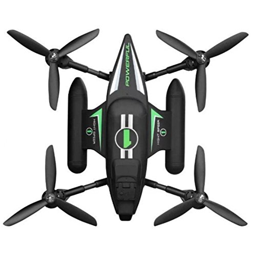 Riviera RC Amphibious Vehicle Quadcopters, Black