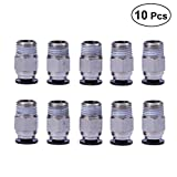 UEETEK 3D Printer Accessories 10pcs PC4-M10 Male Straight Pneumatic PEFE Tube Fitting Connector for Bowden Extruder 3D Printer