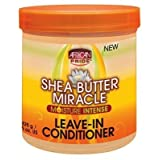 African Pride Shea Butter Miracle Leave-In Conditioner 15oz Jar