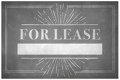 for Lease 30x20 Chalk Burst Window Cling CGSignLab 5-Pack