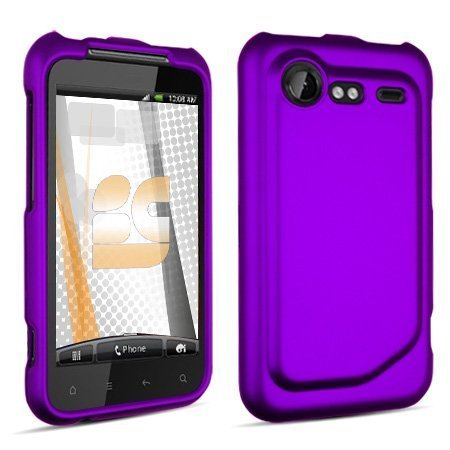 Htc Droid Incredible Rubber - HTC Droid Incredible 2 Rubberized Protector Case Cover - Purple