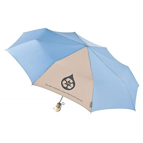 250 Custom Totes Eco & 39;Brella Auto Open/Close Umbrella (Light Blue) - Promotional Product / Branded with Your Logo / Bulk (Lights Brella)