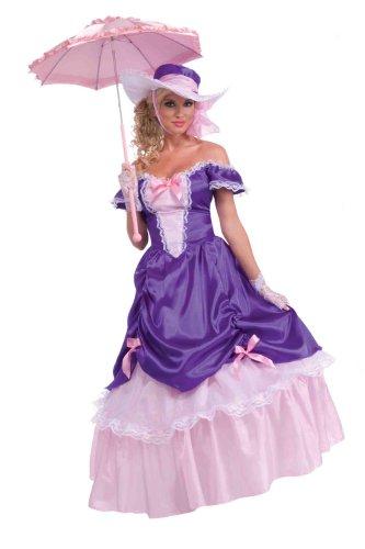 Forum Novelties Women's Blossom Southern Belle Costume, Purple/Pink, One Size - Rhett Butler Costumes