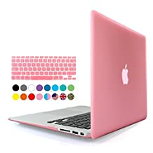Eastchina® 2 in 1 Ultra Slim Light Weight Soft-Touch Plastic Hard Shell Case Cover & Keyboard Cover for 13.3 Inches Apple Macbook 13.3'', Model: A1369 | A1466 (Macbook Air 13'', Pink)