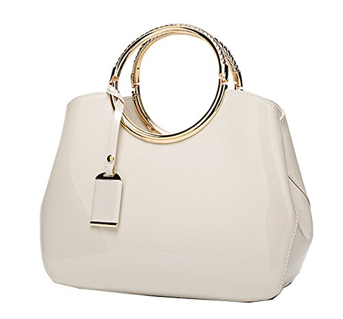 bag shoulder Show Women's hand patent bag New bag Yan Milky shell bag Messenger leather 7wPnFxRq