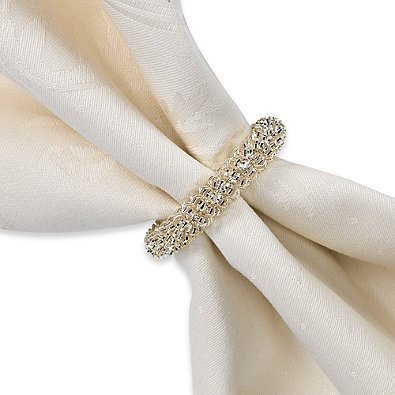 Silver Metal Garland Napkin Ring Set of 6 by Town & Country Living - They're sure to add sparkle to any table setting