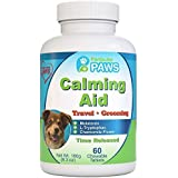 Particular Paws Dog Calming Aid - Time Release - Melatonin, Chamomile Flower, Passion Flower, Thiamine Mononitrate, L Tryptophan - 60 Chewables