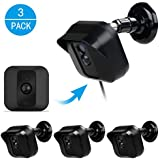 Blink XT Camera Wall Mount Bracket,EASTKING Weather Proof 360 Degree Full Protective Adjustable Outdoor Indoor Mount and Cover Case for Blink XT Home Security Camera System (Blcack(3 Pack))