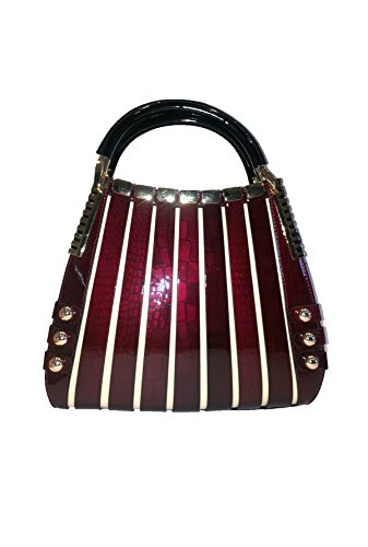 BRAVOHANDBAGS-Irina-Signature-Series-Handbag-Crocodile-Print-Medium-Red