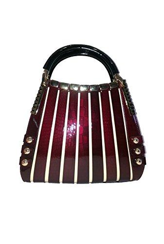 BRAVOHANDBAGS-Irina-Signature-Series-Handbag-Crocodile-Print-Medium-Red