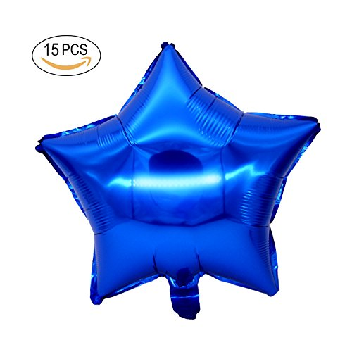 "Star Shape Foil Balloon - 15PCS 18"" Five Star Shape Foil Balloons Mylar Balloons for Graduation Party Supplies Birthday Party Wedding Decoration (Navy Blue)"