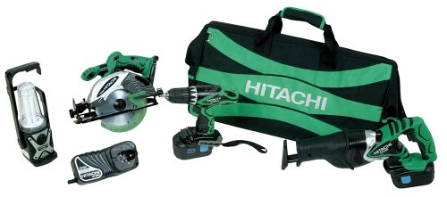 Hitachi Cordless Switch (Hitachi KC18DVF 18-Volt Ni-Cad Cordless 4-Tool Combo kit)