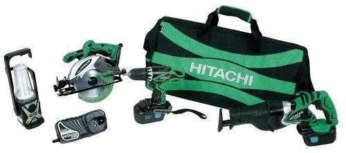 Hitachi KC18DVF 18-Volt Ni-Cad Cordless 4-Tool Combo kit