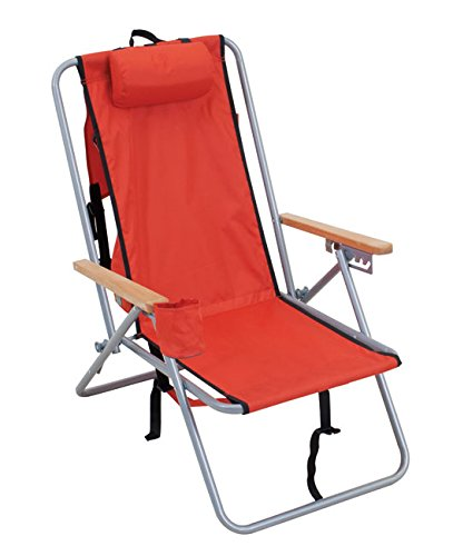 Rio Gear Original Steel Backpack Chair- Red (Jersey Shore Store)