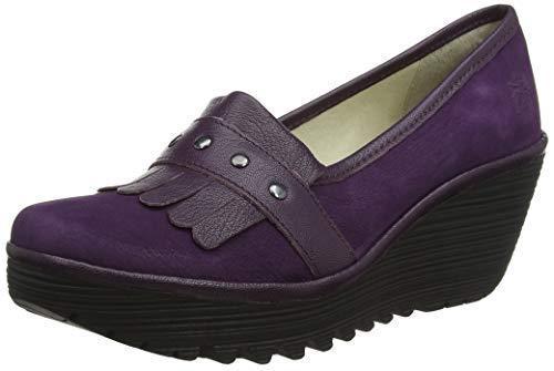 Potent fermé Violet Yela906fly Femme Escarpins 003 London Fly Bout Purple xwq0I54