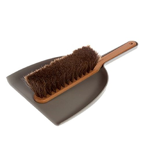 Iris Hantverk Dustpan  Brush Set, Handmade, Grey