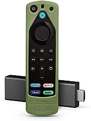 Fire TV Stick (3rd Gen) with Alexa Voice Remote (includes TV controls) + Star Wars The Mandalorian remote cove