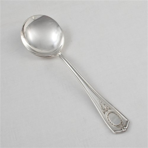 (Louis XVI by Community, Silverplate Bouillon Soup Spoon)