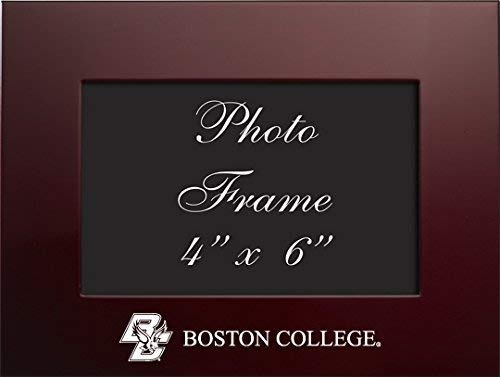 LXG, Inc. Boston College - 4x6 Brushed Metal Picture Frame - Burgandy