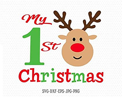 First Christmas In Our New Home Svg.Amazon Com Pene My First Christmas Decal Rudolf Decal