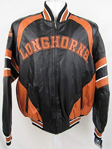 G-III Sports Texas Longhorns Mens Size Medium Full Zip Embroidered Leather Jacket AUTX 110 M