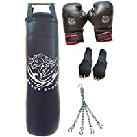 Byson Boxing Kit Set for Adult's&Men's&Senior's&Professional's(36 inches Strong Punching Bag with Boxing Gloves and Hand wrap Gloves and Chain Heavy Bag)