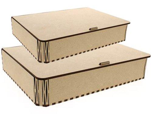 BOANITA–* * 2Stück aus Holz–Deckel aus Holz mit Gelenk