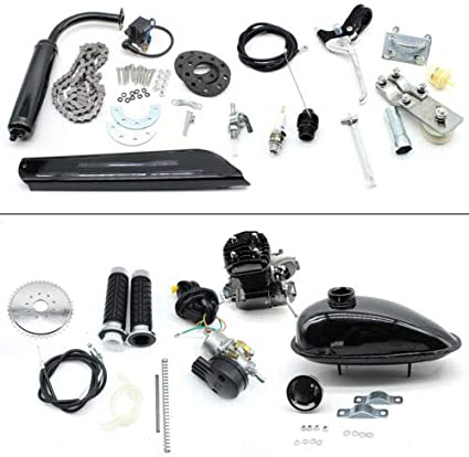 Kit de motor de gasolina para bicicleta de 50 cc, refrigeración por aire, 2 tiempos: Amazon.es: Coche y moto
