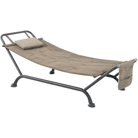 Wentworth Deluxe Steel Frame 100% Polyester-filled Fabric Hammock With Stand and Magazine Bag