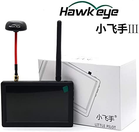 Accessories Hawkeye Little Pilot III Photography 5inch 5.8G 40CH FPV HD Monitor 800 X 480 Aerial FPV Displayer Display Monitor with Antenna