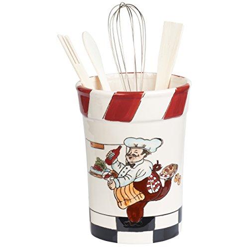 Chef Utensil Holder - Chef Ceramic Utensil Holder