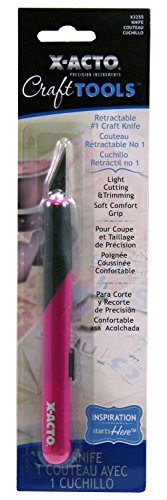 Series Paper Trimmers (X-Acto ELMERS Designer Series Retractable Knife, Pink (X3255))
