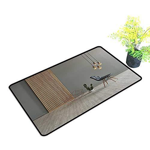 gmnalahome Front Door Mat for Indoor Outdoor Entry Rug Gray Win Front Wooden Separator Pend t lamp Texture woo Laminate Floor Keep Your House Clean W21 x H11 INCH (Outdoor Pend)