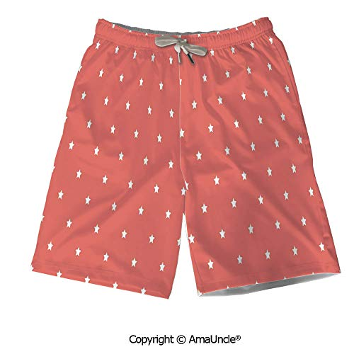Personalized Beach Shorts Boardshorts for Men,Minimalist Neat Star on Empty Oute