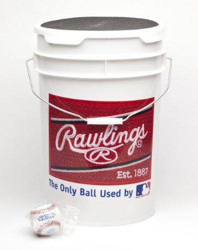 ROLB1X Practice Baseballs in Bucket (3 Dozen) ()