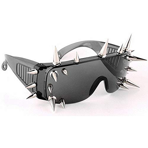 Gafas Decoración Estilo UV Ultra Oversized para Personalidad Super Remache de Piezas Sunglasses Protección Gimitunus Party Punk 21 Hombre Sol Ligero Cool 40f0wPq