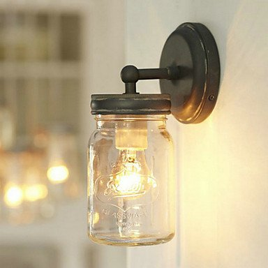 Rustic wall light in bottle shape amazon lighting rustic wall light in bottle shape aloadofball Image collections