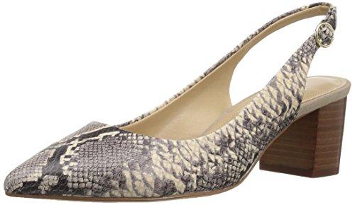The Fix Women's Ramsey Sling Back Block Heel Dress Pump,Mushroom Python Print,8 B US