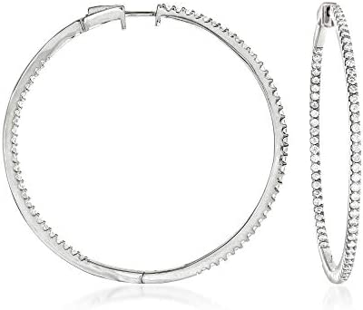 Ross-Simons 2.00 ct. t.w. Large Inside-Outside Hoop Earrings in Sterling Silver or 18kt Gold over Silver