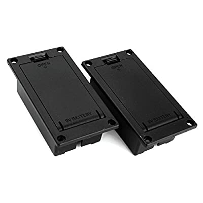 DN 9v Battery Case Box Compartment Cover For Guitar Bass (Pack of 2) from DN